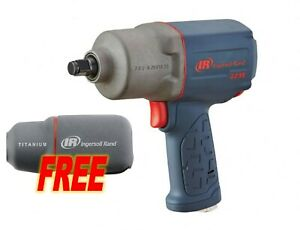 Ingersoll Rand 2235qtimax 1 2 Quiet Impact Wrench W free Boot And Socket Set