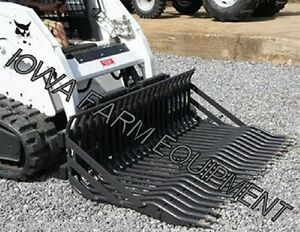 Rock Bucket Skidsteer Q a Bradco 75 X2 Ships Free To Select States see Dets