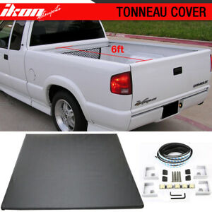 Fits 94 04 Chevrolet S10 Gmc S15 6ft Short Bed Lock Soft Tri Fold Tonneau Cover