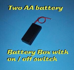 Battery Box With On off Switch 2 Aa Battery Holder