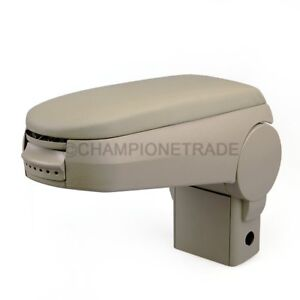 Us Beige Leather Center Console Armrest For 1999 2004 Vw Golf Jetta Bora Mk4 Gti