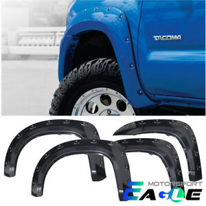 For 05 11 Toyota Tacoma Black 60 3 Short Bed Pocket Style Fender Flares Set Us