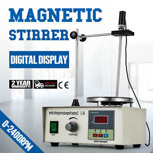 Magnetic Stirrer With Heating Plate Digital 2400points Thermostatic Stir Bar