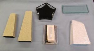 Mixed Lot Of 6 Trophy Parts Acrylic resin Pieces