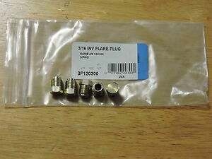 Steel Fitting 1 4 Od Brake Line Inverted Flare Plug 5 Pkg