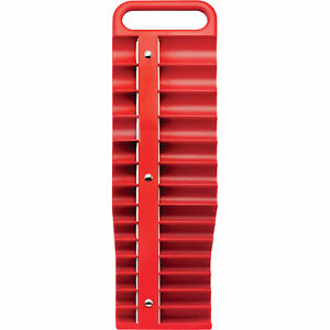 Strongway 3 8in Drive Magnetic Socket Holder Sae And Metric Red