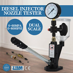 Diesel Injector Nozzle Pop Pressure Tester Dual Gauge Bar psi W filter 0 60 Mpa