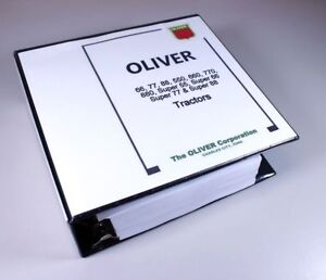 Oliver Super 55 66 77 88 Tractor Service Repair Manual Shop Overhaul 1 384 Pages