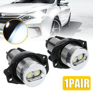 2x 20w Angel Eyes Led Headlight Marker Halo Ring Light Bulb Fit For Bmw E90 E91