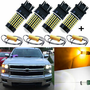 Switchback Led Bulbs Error Free For Chevy Silverado Front Parking Signal Lights