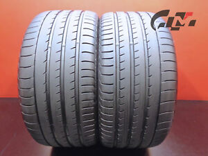 2 High Tread Yokohama Tires 295 35 21 Advan Sport V105 107y Oem Porsche 43735