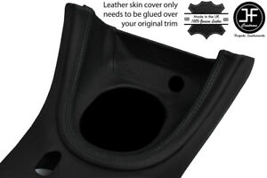 Black Stitch Manual Shift Bezel Surround Leather Cover For Ford Mustang 1999 04