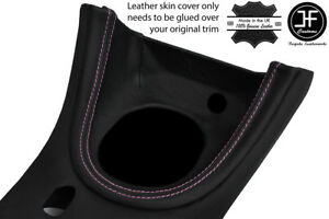 Pink Stitch Manual Shift Bezel Surround Leather Cover For Ford Mustang 1999 04