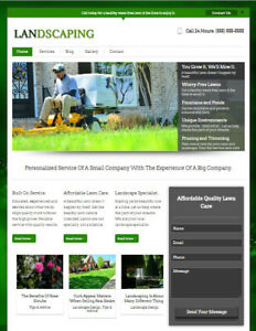 Landscaping Lawn Care Business Website For Professional Landscaper Contractor