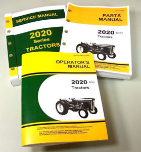 Service Manual Set For John Deere 2020 Tractor Parts Operators Owner Tech Repair