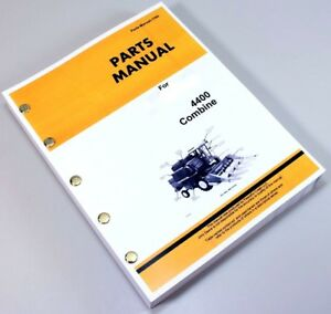 Parts Manual For John Deere 4400 Combine Catalog Assembly Exploded Views Numbers