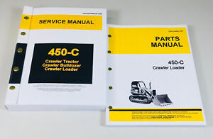 Service Manual Set For John Deere 450c Crawler Loader Parts Tech Repair Catalog
