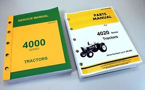 Service Manual For John Deere 4020 Tractor Technical Parts Catalog Under 201 000