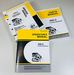 Service Manual For John Deere 450c Crawler Dozer Bulldozer Operator Parts Catalo