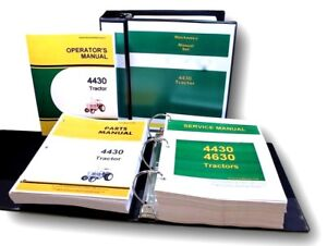 Service Manual Set For John Deere 4430 Tractor Parts Operators Owners Catalog