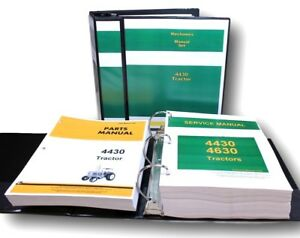 Service Manual Set For John Deere 4430 Tractor Repair Parts Catalog Shop Book