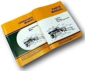 Operators Parts Manual Set For John Deere 24t Baler Owner Catalog Adjustments