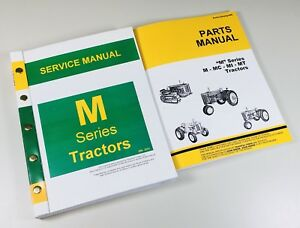 Service Manual Set For John Deere M Mi Mt Tractor Service Parts Catalog Shop