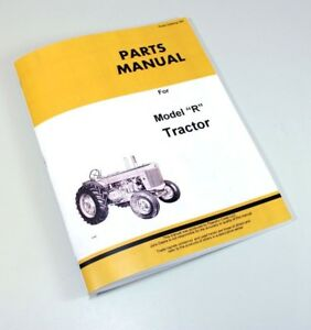 Parts Manual For John Deere R Tractor Catalog Assembly Exploded Views Numbers