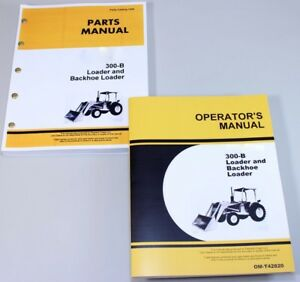 Operator Parts Manual Set For John Deere Jd 300 b 300b Loader Backhoe Catalog