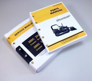 Service Manual For John Deere 350c Crawler Loader Bulldozer Parts Catalog Shop