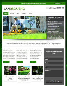 Landscaping Lawn Care Business Website Domain Name For Landscaper Contractor