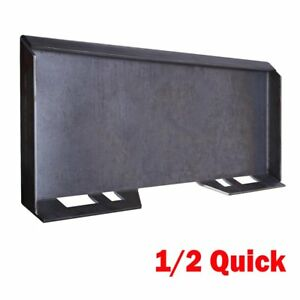 1 2 Quick Tach Attachment Mount Plate Skid Steer Grade 50 Structural Steel 95lb
