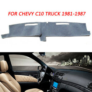 Black Dash Cover Dashboard Mat Carpet For Chevy C10 C20 Truck 1981 1986 1987