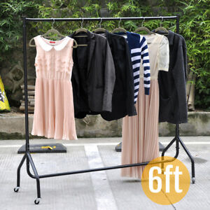 6 Ft Garment Clothes Rail Home office market Heavy Duty Hanging Rack Display