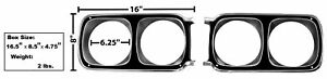 1969 69 Roadrunner Headlamp Bezel 1969 Set Of 2