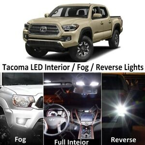White Led Interior fog reverse Lights Package tool For 2016 2019 Toyota Tacoma