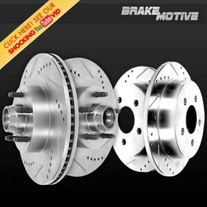Front And Rear Brake Disc Rotors Kit Expedition F150 Lightning Navigator 2wd Rwd