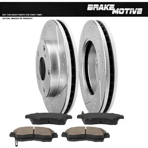 Front Drill Slot Brake Rotors And Ceramic Pads For 1992 1998 1999 Toyota Camry