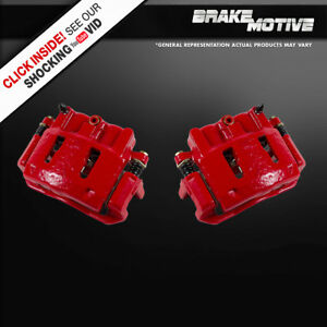 Front Red Powder Coated Performance Brake Calipers 1995 2000 Ford Ranger Rwd