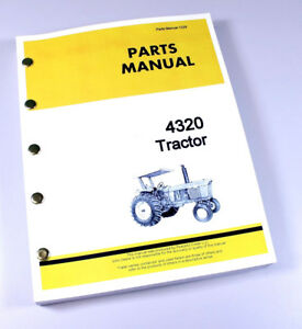 Parts Manual For John Deere 4320 Tractor Catalog Assembly Exploded Views