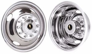 Ford F450 F450 F 53 16 10 Lug Stainless Steel Wheel Cover Hubcap Liners Set 4
