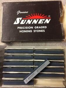 New Sunnen Honing Stones P20 J65 Box Of 12 Silicon Carbide 280 Grit Hone