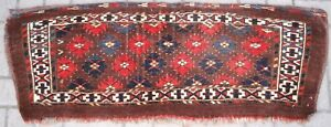 Antique Yomut Turkmen Torba Great Design And Colour Late 19th C One Of Pair