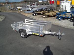 2019 Aluma 548 Cargo Aluminum Utility Trailer With 24 Inch Side Rack Set 54 X 8