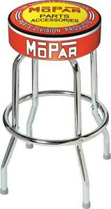 1948 53 Orange Yellow Mopar Parts And Accessories Logo Counter Stool