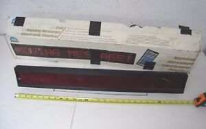 Dynasty Moving Message Electronic Display Programmable 28 X 3 Working