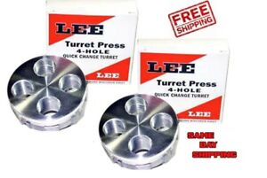 LEE 4-HOLE QUICK CHANGE TURRETS  quantity of (2)  TWO 90269 New! FREE SHIPPING