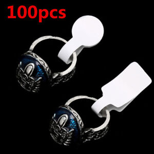 Blank Price Tags 100pcs bag Ring Necklace Jewelry Labels Paper Stickers Label