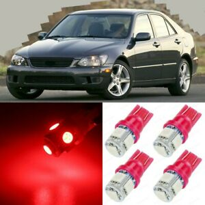 12 X Ultra Red Interior Led Lights Package For 2001 2005 Lexus Is300 Tool