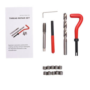 15 Piece Thread Repair Kit M10 X 1 0 Helicoil Coil Twist Drill Tap